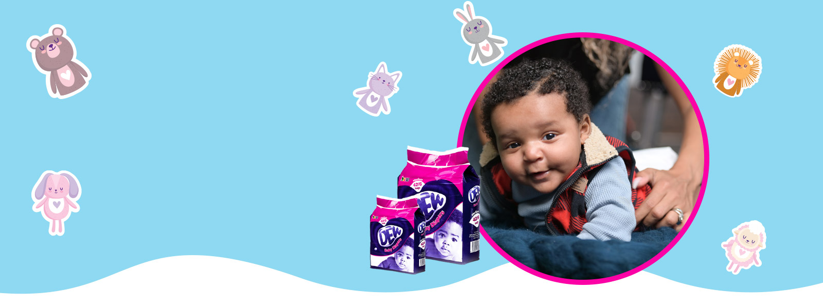 Breathable and soft cotton <br /> diapers for your kids